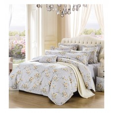 Silk Camel Luxury 100% Cotton 3-Piece Bedding Set, Duvet Cover and Pillow Sham - Sunny Winter